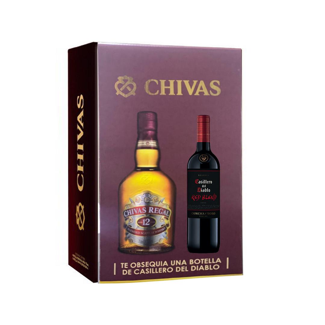 pack chivas + casillero del diablo